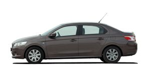 Brown sedan side view Stock Photo