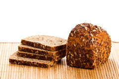 Brown seed biobread isolated on white background bakery product Stock Images