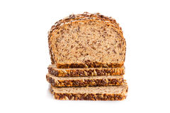 Brown seed biobread isolated on white background Stock Photography