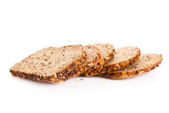 Brown seed biobread isolated on white background healthy nutrition Stock Image