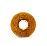 Brown sewing thread Stock Photos