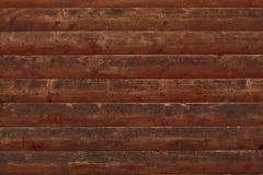 Brown shabby wooden planks. Surface of a wooden decrepit fence. Dilapidated oak planking. Texture of old brown boards. Grunge wood. Wall pattern. Wooden texture royalty free stock photo