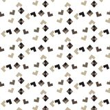 Brown shade L shape and diamond shape scatter pattern background. Vector illustration image Royalty Free Stock Images