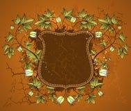 Brown shield, vector Stock Image