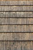 Brown shingle roof Royalty Free Stock Photo