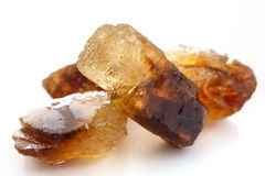Brown shiny sugar rock candy Royalty Free Stock Photo