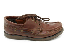 Brown shoe Royalty Free Stock Image