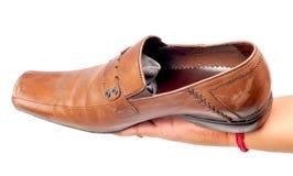 Brown shoe Royalty Free Stock Image