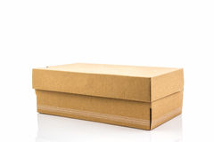 Brown shoe box. Stock Image