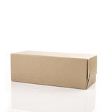 Brown shoe box on white isolated background Royalty Free Stock Photo