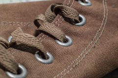 Brown shoelace Royalty Free Stock Photography