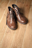 Brown shoes Stock Images