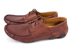 Brown shoes stock image
