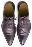 Brown shoes from above Stock Photography
