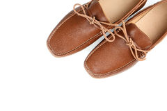 Brown shoes. Fashion brown shoes on a white background Stock Photo
