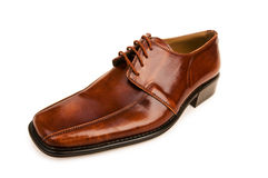 Brown shoes isolated Stock Photography