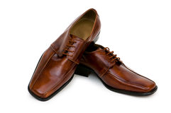 Brown shoes isolated Royalty Free Stock Photo