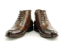 Brown shoes isolated on white Royalty Free Stock Images