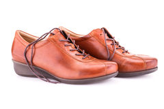 Brown shoes Stock Photography