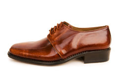 Brown shoes isolated on the white background Royalty Free Stock Photos