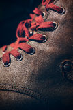 Brown Shoes with Lace Royalty Free Stock Photos