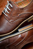 Brown shoes for men Royalty Free Stock Image