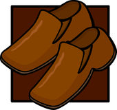 Brown shoes pair. Illustration of a pair of brown shoes Stock Photography