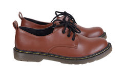 Brown shoes. Stock Photo