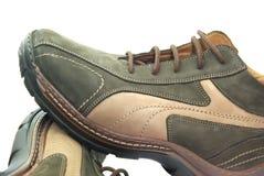 brown shoes sporten Royaltyfri Foto
