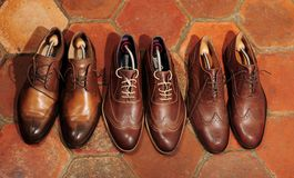 Brown shoes Royalty Free Stock Images