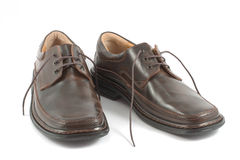 brown shoes två Royaltyfri Foto