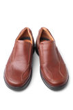 Brown shoes. On white background Royalty Free Stock Photo