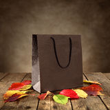 Brown shopping bag Stock Photos