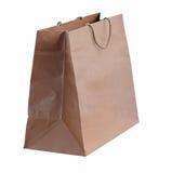 Brown shopping bag Stock Photos