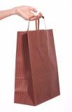 Brown shopping bag stock image