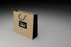 Brown shopping bag for advertising or branding product,3D rendering illustration Stock Photo