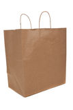 Brown shopping bag with handles Royalty Free Stock Photos
