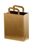 Brown shopping bag Royalty Free Stock Photos