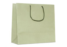 Brown shopping bag isolated on white Royalty Free Stock Photos