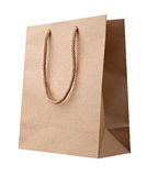 Brown shopping bag. Stock Photo