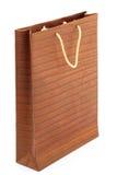Brown shopping bag  on white Royalty Free Stock Image
