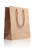 Brown shopping bag. Royalty Free Stock Photography