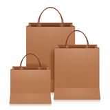 Brown Shopping Bags Royalty Free Stock Photography