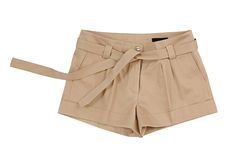 Brown shorts. Isolated on white Royalty Free Stock Photography