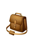A brown shoulder bag Stock Image