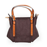 Brown Shoulder bag on white Royalty Free Stock Photo
