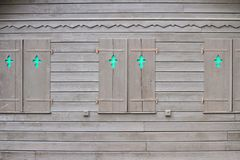 Brown shutters closed Royalty Free Stock Images