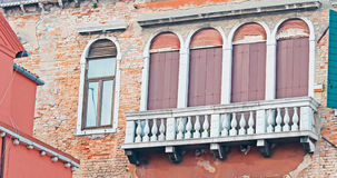 Brown shutters Stock Images