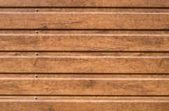 Brown siding that mimics the natural wood Stock Photo