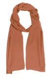 Brown silk scarf Stock Image